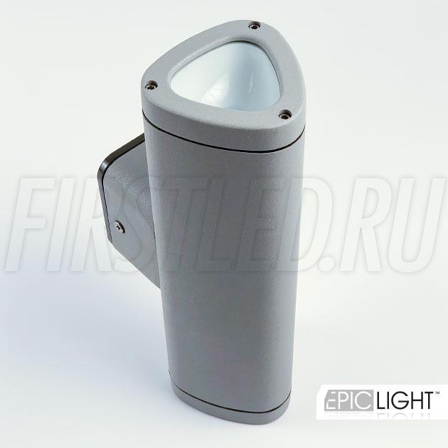 Настенный светодиодный светильник WALL DUO (светло-серый)