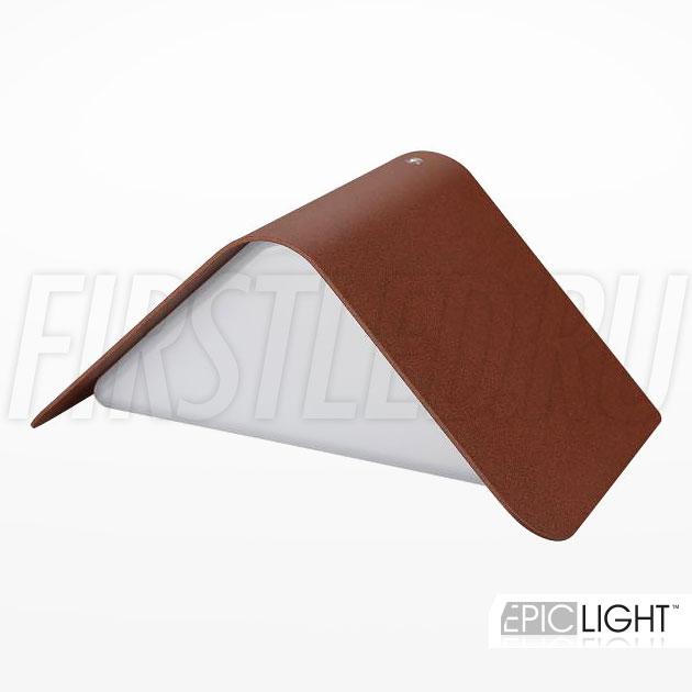 Настенный светодиодный светильник WALL TRIA (коричневый)
